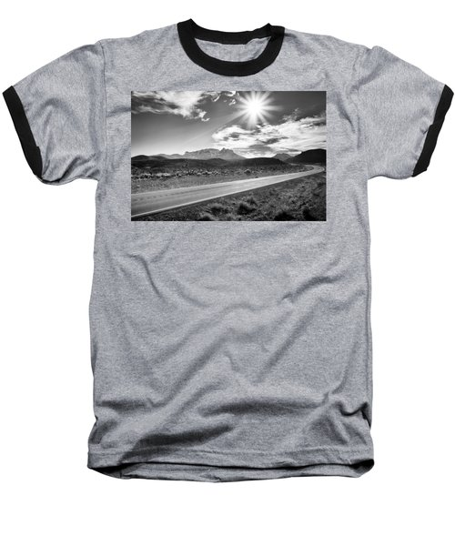 Baseball T-Shirt featuring the photograph The Lonely Road by Howard Salmon