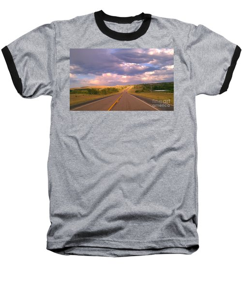 Baseball T-Shirt featuring the photograph The Long Road Home by Chris Tarpening