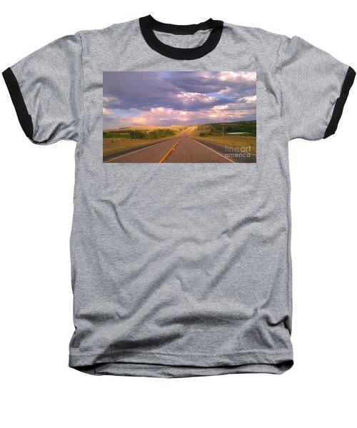 The Long Road Home Baseball T-Shirt by Chris Tarpening