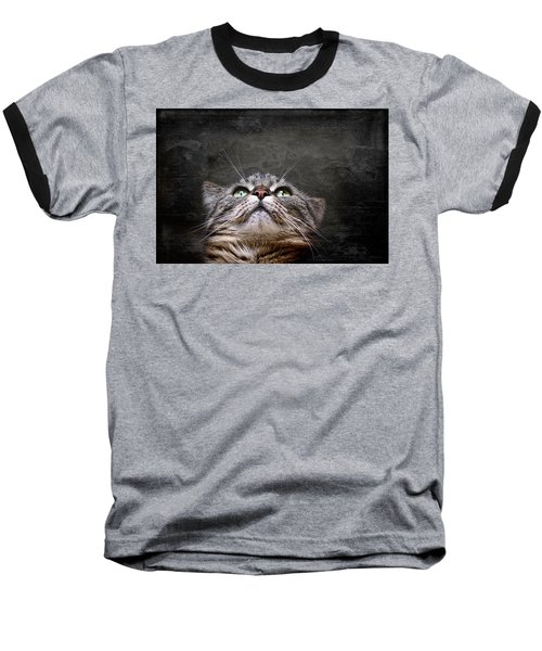 Baseball T-Shirt featuring the photograph The Look by Annie Snel