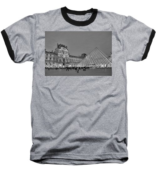 The Louvre Black And White Baseball T-Shirt