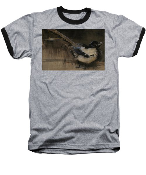 The Magpie Baseball T-Shirt by Joseph Crawhall