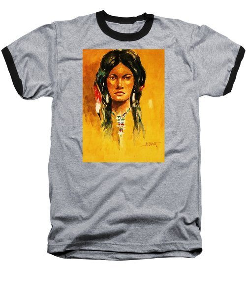 Baseball T-Shirt featuring the painting The Maiden Ll by Al Brown