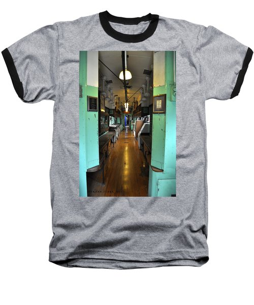 Baseball T-Shirt featuring the photograph The Mail Car From The Series View Of An Old Railroad by Verana Stark