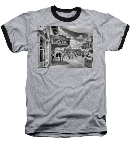 Baseball T-Shirt featuring the photograph The Main Street Cinema by Howard Salmon