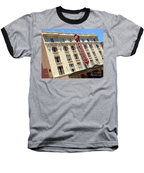 Baseball T-Shirt featuring the photograph The Majestic Theater Dallas #1 by Robert ONeil