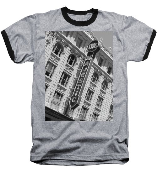 The Majestic Theater Dallas #3 Baseball T-Shirt by Robert ONeil