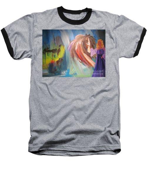 The Majik Of Horses Baseball T-Shirt
