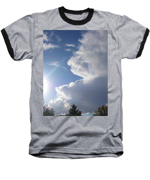 Rainbow Tears Baseball T-Shirt by Deborah Moen