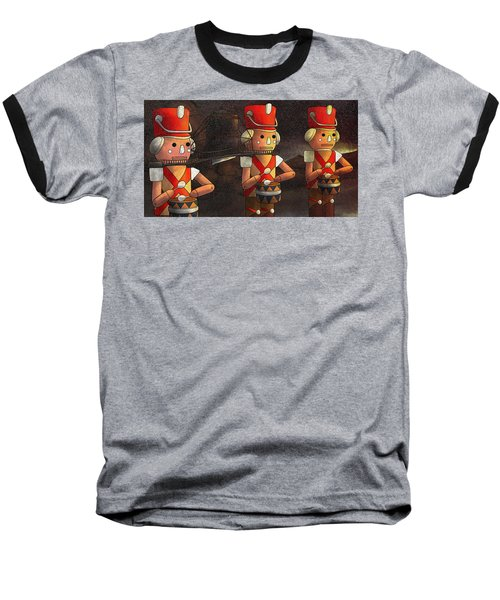 The March Of The Wooden Soldiers Baseball T-Shirt by Reynold Jay