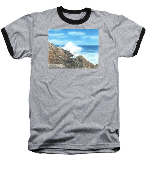 Baseball T-Shirt featuring the drawing The Marginal Way by Troy Levesque