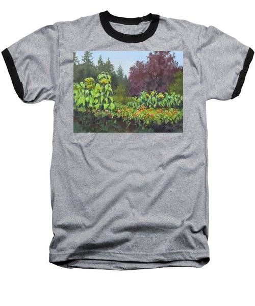 Baseball T-Shirt featuring the painting The Matriarchs by Karen Ilari