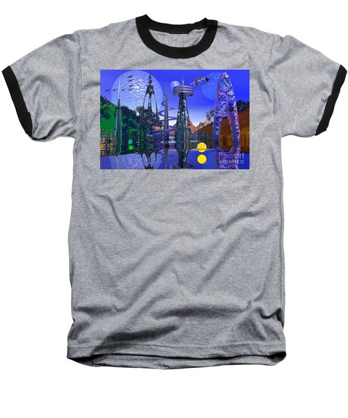 Baseball T-Shirt featuring the photograph The Mechanical Wonder by Mark Blauhoefer