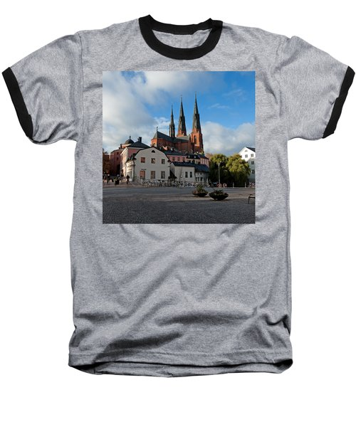 The Medieval Uppsala Baseball T-Shirt by Torbjorn Swenelius