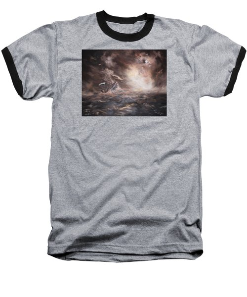 Baseball T-Shirt featuring the painting The Merchant Royal by Jean Walker