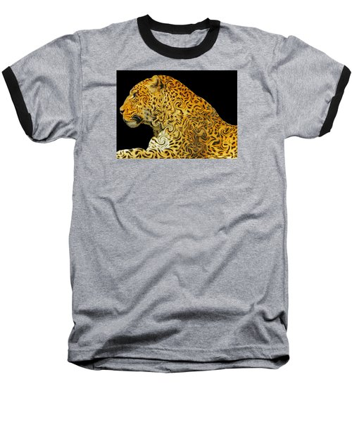The Mighty Panthera Pardus Baseball T-Shirt by Emmy Marie Vickers