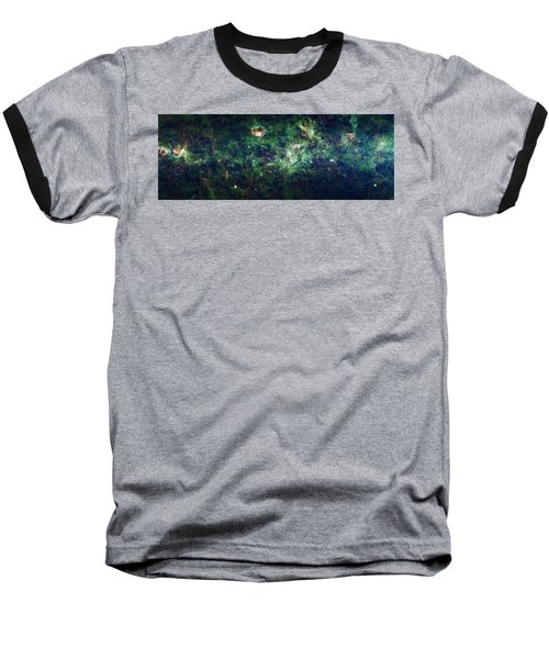 The Milky Way Baseball T-Shirt by Adam Romanowicz