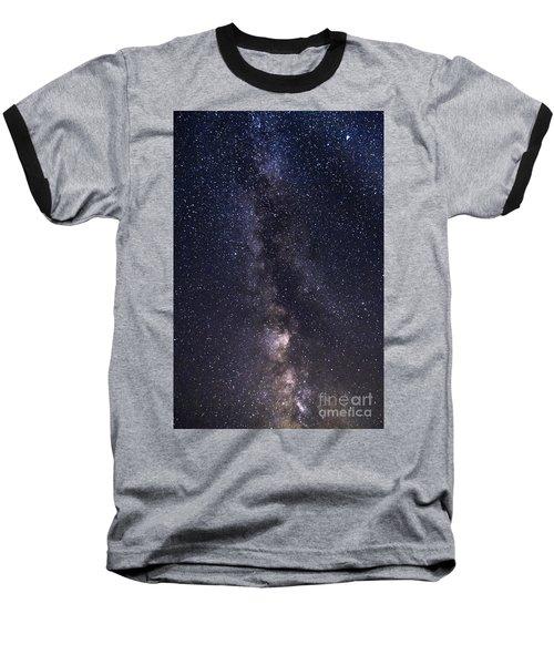 The Milky Way From Phippsburg Maine Usa Baseball T-Shirt