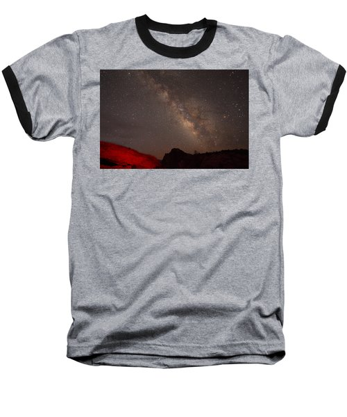 The Milky Way Over Mesa Arch Baseball T-Shirt