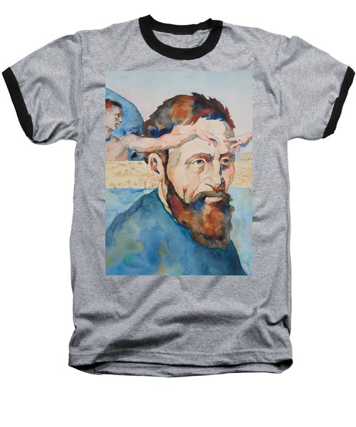 Baseball T-Shirt featuring the painting The Mind Of Michelangelo by Michele Myers