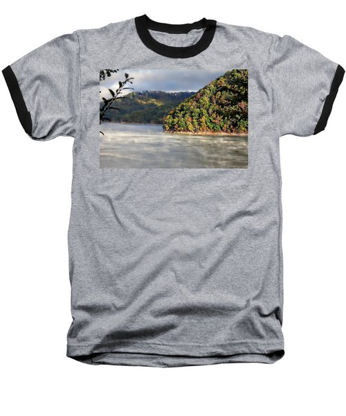 The Mists Of Watauga Baseball T-Shirt by Tom Culver