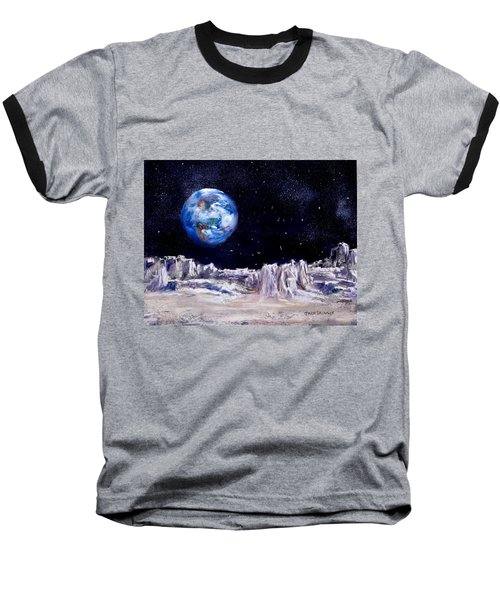The Moon Rocks Baseball T-Shirt by Jack Skinner