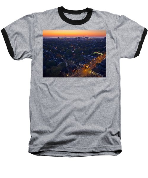 Baseball T-Shirt featuring the photograph The Morning Bus by Keith Armstrong