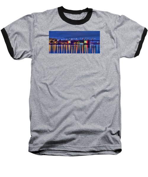 Baseball T-Shirt featuring the photograph Morrison Bridge Reflections by Thom Zehrfeld