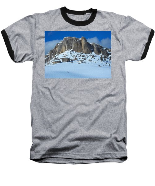 Baseball T-Shirt featuring the photograph The Mountain Citadel by Michele Myers