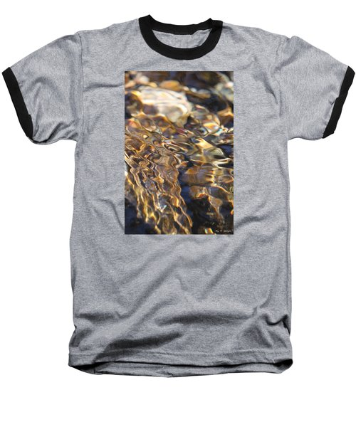 The Music And Motion Of Water Baseball T-Shirt by Amy Gallagher