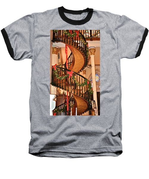 The Mysterious Miracle Staircase Baseball T-Shirt