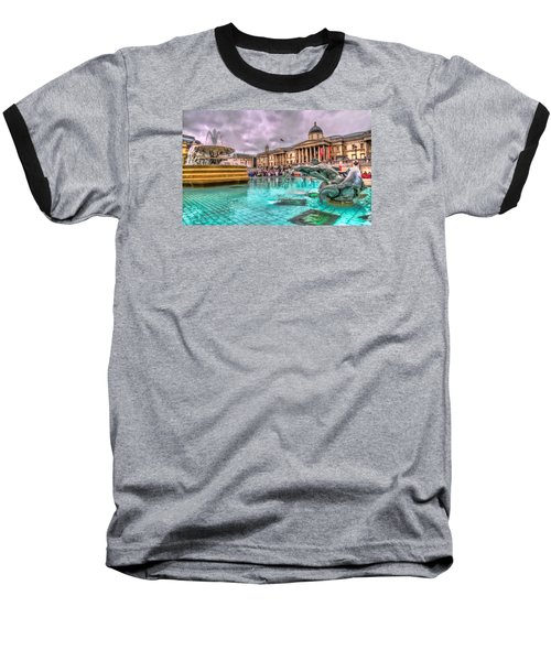 The National Gallery In Trafalgar Square Baseball T-Shirt by Tim Stanley