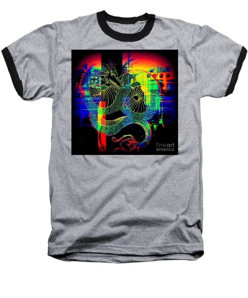 The Neon Dragon Baseball T-Shirt