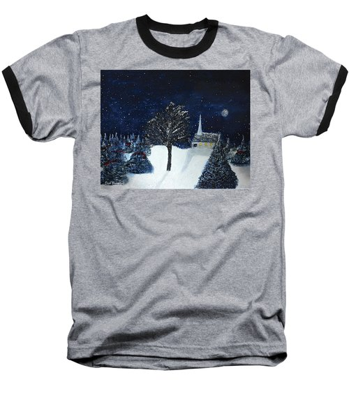 The Night Before Christmas Baseball T-Shirt by Dick Bourgault