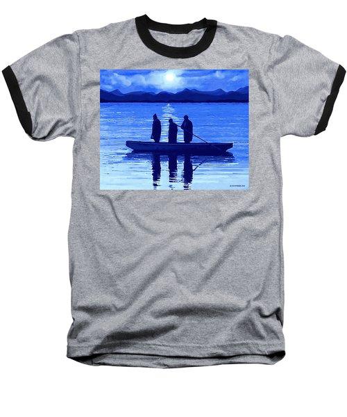 The Night Fishermen Baseball T-Shirt by Sophia Schmierer