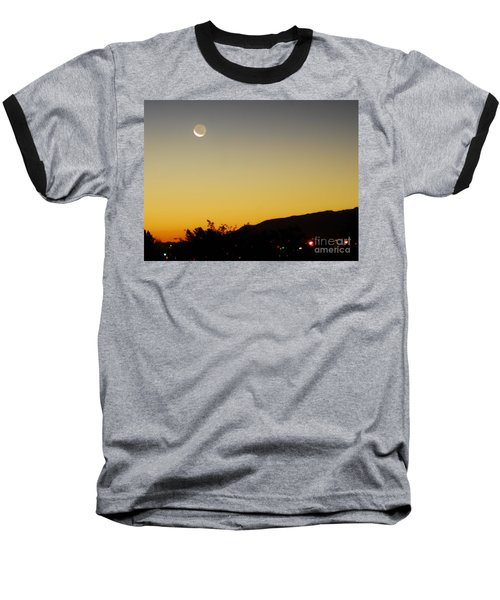 Baseball T-Shirt featuring the photograph The Night Moves On by Angela J Wright