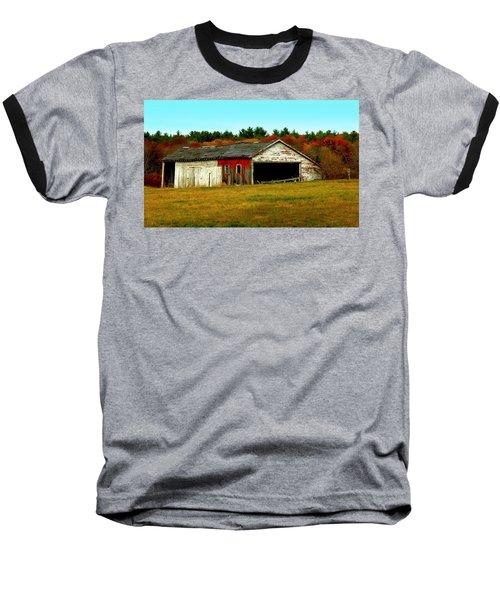 The Old Barn Baseball T-Shirt by Bruce Carpenter