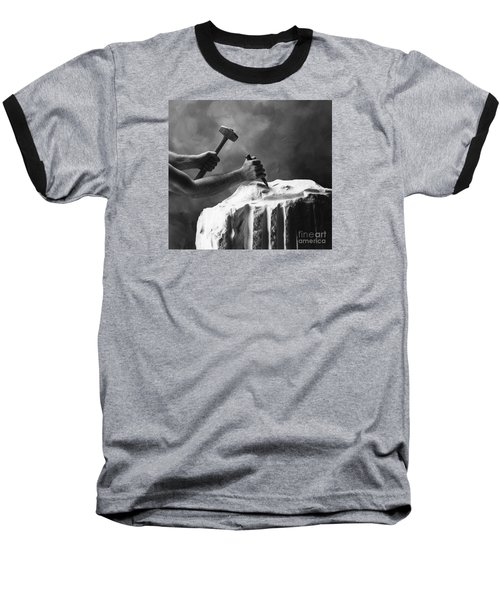 Baseball T-Shirt featuring the photograph Chipping The Old Block by Mark Greenberg