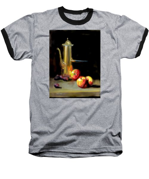 Baseball T-Shirt featuring the painting The Old Coffee Pot by Barry Williamson