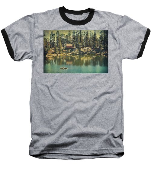 The Old Days By The Lake Baseball T-Shirt by Laurie Search
