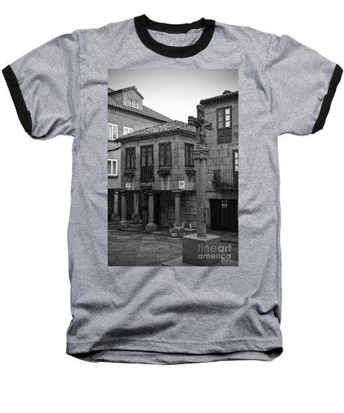 The Old Firewood Marketplace Bw Baseball T-Shirt