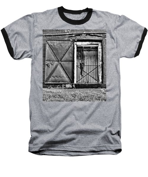 The Old Fort Gate-black And White Baseball T-Shirt