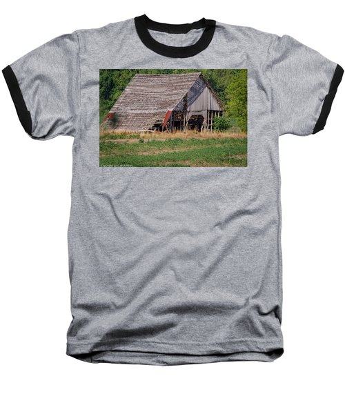 Baseball T-Shirt featuring the photograph The Old Gray Barn by Nick Kirby