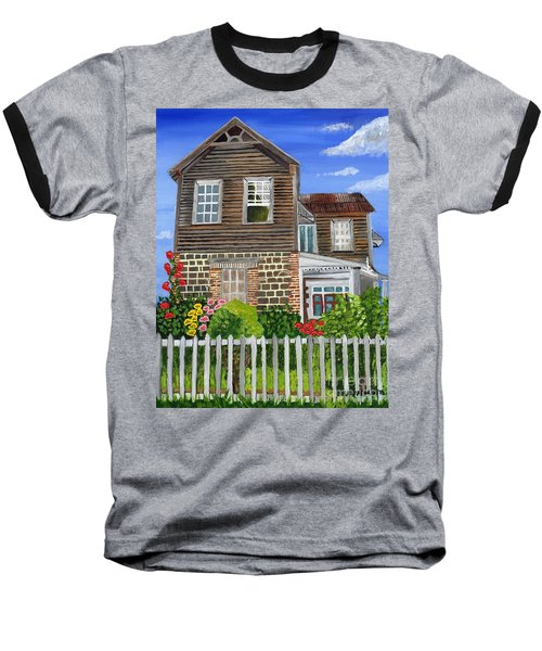 The Old House Baseball T-Shirt by Laura Forde