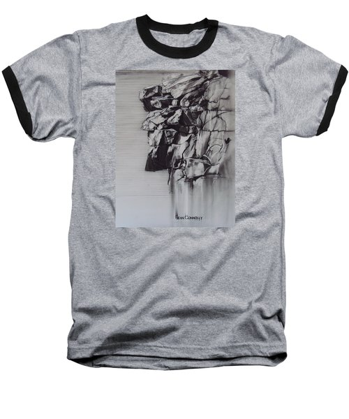The Old Man Of The Mountain Baseball T-Shirt by Sean Connolly