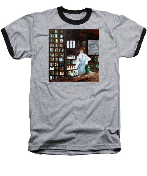 The Old Pharmacy ... Medicine In The Making Baseball T-Shirt by Eloise Schneider