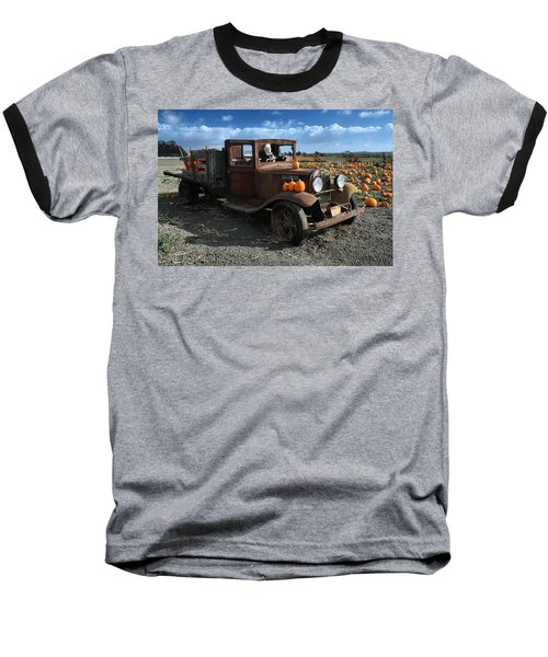 Baseball T-Shirt featuring the photograph The Old Pumpkin Patch by Michael Gordon