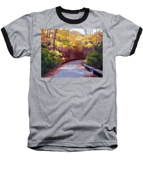 The Old Roadway In Autumn II Baseball T-Shirt by Janet King