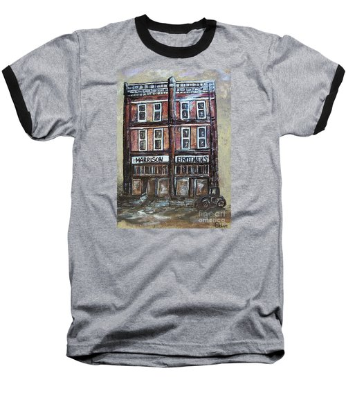 Baseball T-Shirt featuring the painting The Old Store by Eloise Schneider