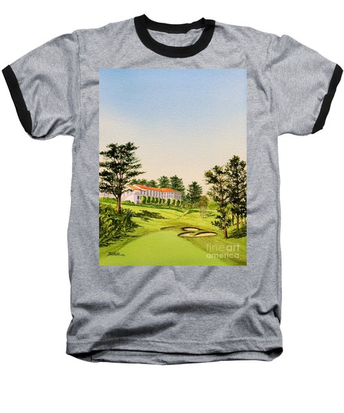 Baseball T-Shirt featuring the painting The Olympic Golf Club - 18th Hole by Bill Holkham